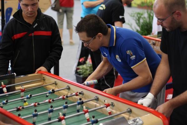 Paul Nunes lors de la finale du Double à Montreuil-sur-Mer en 2013